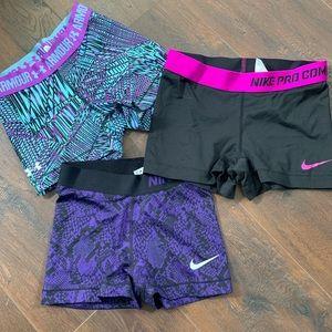 Nike Shorts - Nike Pro / UA Spandex Bundle